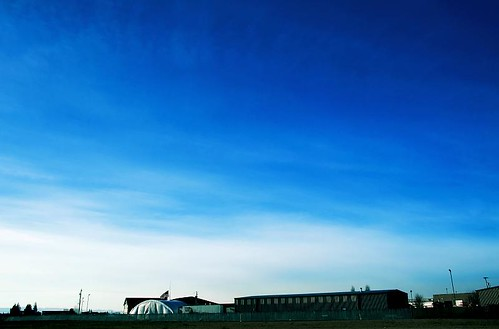 blue sky oregon canon buildings geotagged industrial skies flag american rebelxt colorblue skyshots stayton geo:lat=44796751 geo:lon=122816237