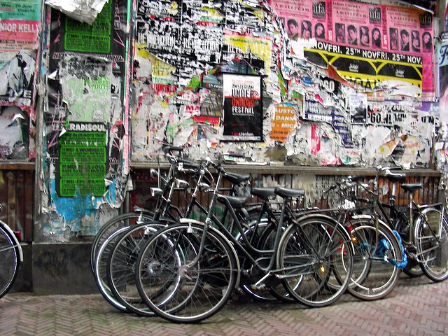 Amsterdam bikes and posters