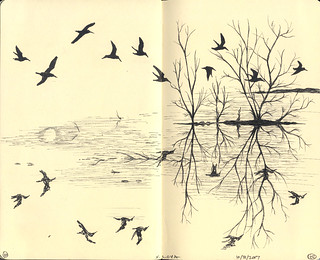 moleskine book 2, pages 101 and 102 | by steve loya