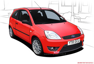 Ford Fiesta Cartoon This A Line Drawing And Colouring Of M Flickr