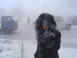 A crossroad in Yakutsk