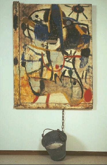 Goede Karel Appel. Boer met ezel en emmer, 1950   Karel Appel Boer…   Flickr RZ-37