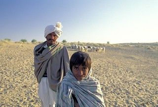 Portrait of man and boy. India | by World Bank Photo Collection