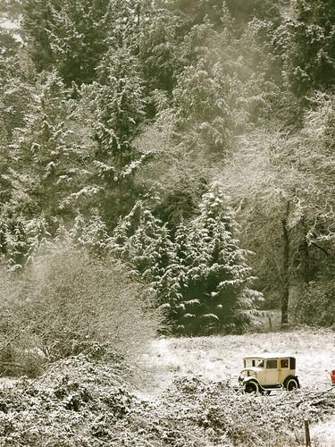 snow landscape antiquecar nca willits mendocinoco