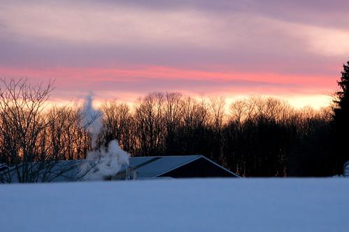 sunset maple vermont purple farm metallic steam syrup vt sugaring randolphcenter canong9