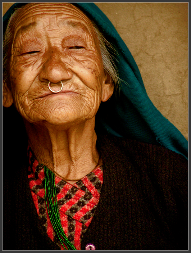 Beautiful old lady from Darap(Sikkim) village