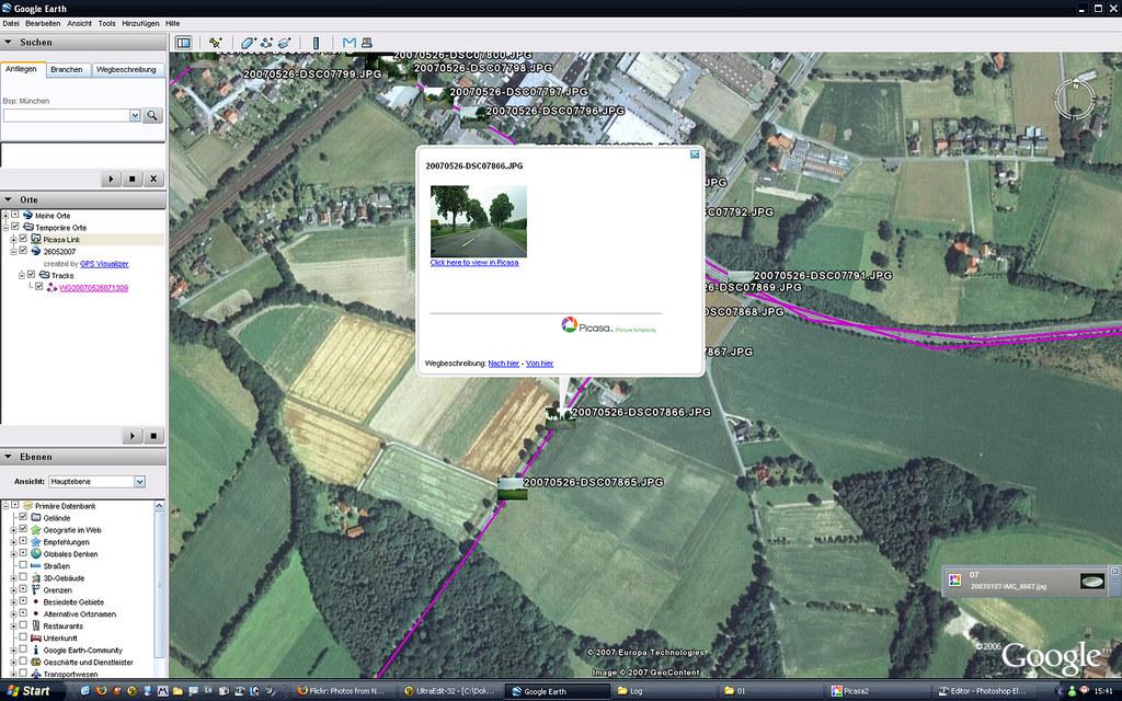 Sony GPS Unit + GPS Image Tracker + Picasa + GPS Visualize