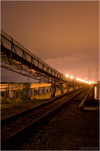 longexposure industry night vanishingpoint railway jacksonville sigma1770mm pentaxk10d paulandapentax