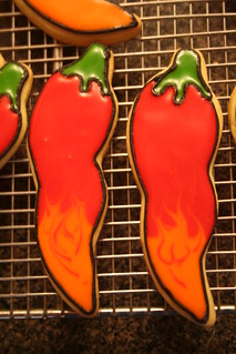 chili pepper cookies | Because Aaron loves spicy foods ...
