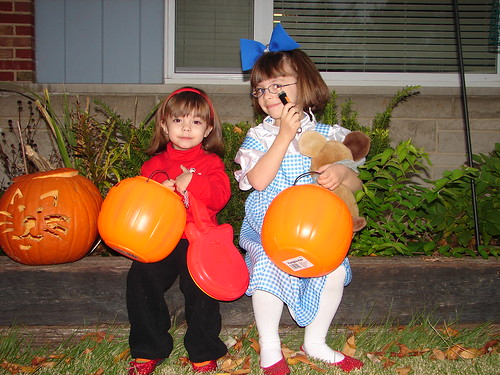 Murray Wiggle and Dorothy prepare for candy begging. | by FluidPudding