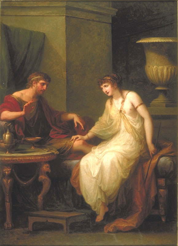 Odysseus And Circe 1786 After Pleading In Vain With Aeolu