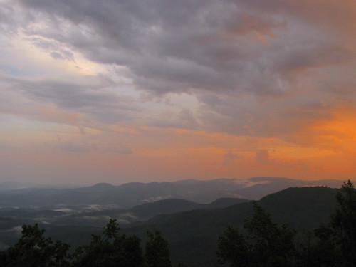 sunset northcarolina blueridgeparkway westernnorthcarolina southernappalachians ccbyncsa elkmountainoverlook canonpowershotsx10is