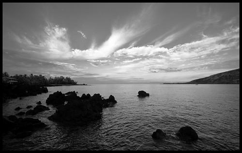 morning bw clouds sunrise hawaii pb bigisland kona kealakekuabay 20689