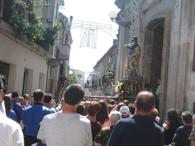 San Rocco rientra in Chiesa (Festa del Santo Salvatore)