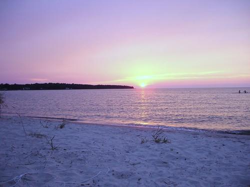 park sunset summer beach michigan national wilderness summers