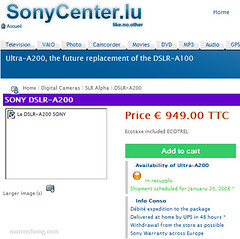 Sony A200 on Sony France Website | by IvanImages