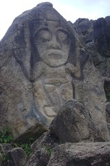 Rock carving, San Agustin