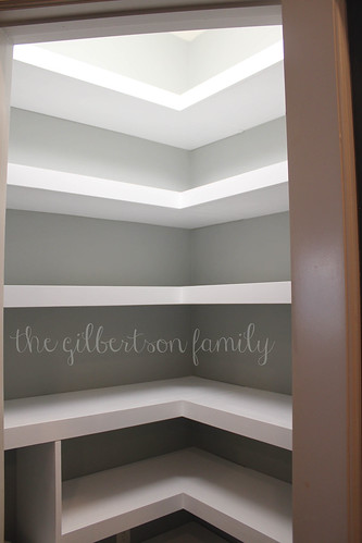 diy pantry shelves | by thegilbertsonfamily