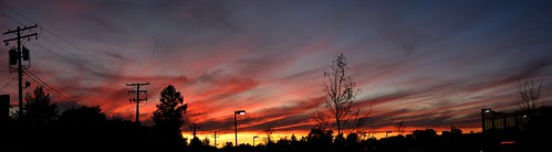 trees sunset ohio sky panorama clouds cleveland silhouettes doubletake handheld oh 2007 gloaming