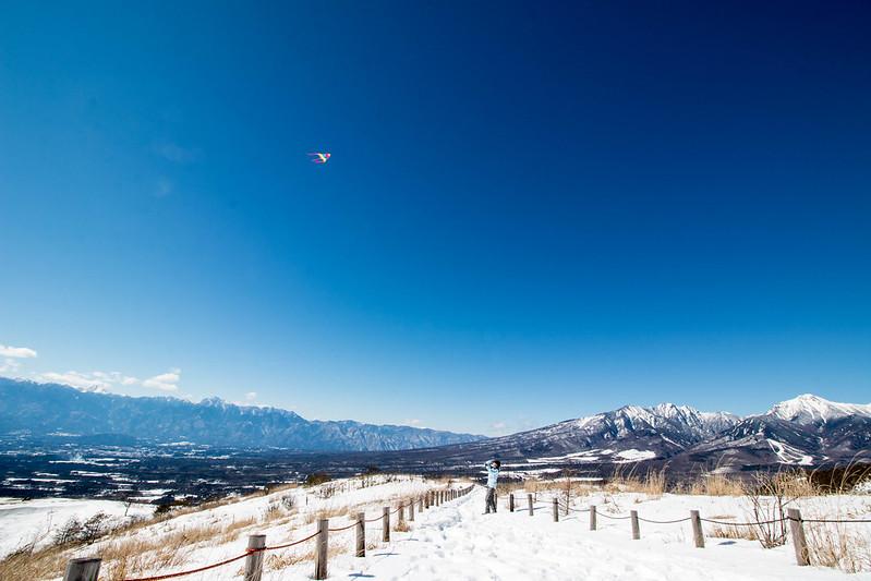 飯盛山の凧揚げ