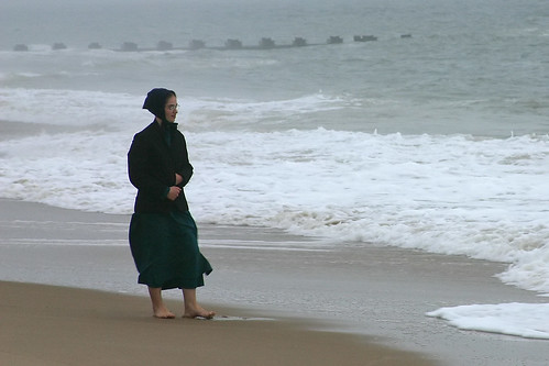 Amish girl on the beach | by Madbuster75