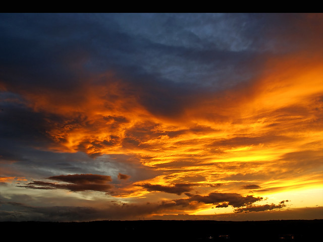 January sky - Fire in the sky