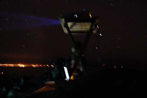 projector w/ port angeles backdrop