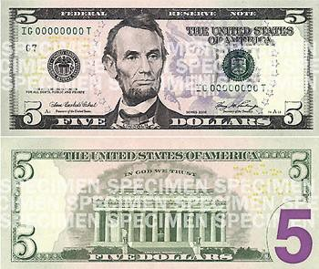 New Five Dollar Bill | by Sean Hackbarth