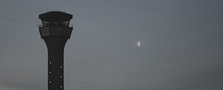 Control Tower and Moon | by cacophonyx
