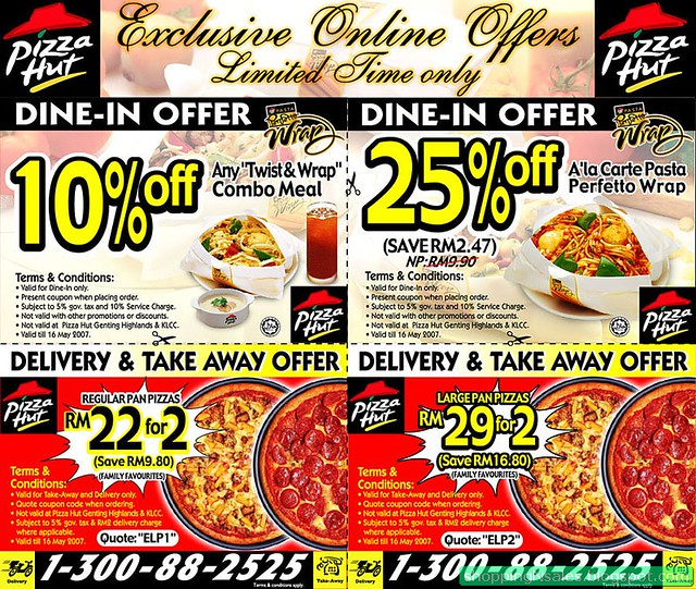 pizza hut coupons eat in