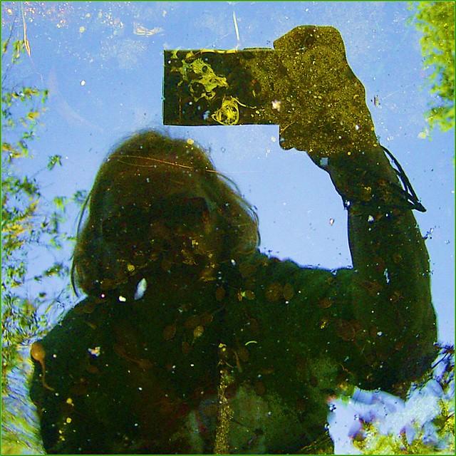 zelfportret met kikkervisjes