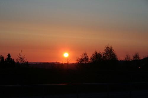 sunrise landscape trondheim