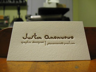 Letterpress Business Card | by dolcepress