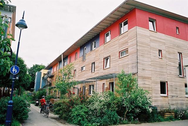 Quartier Vauban : immeuble (façade bois)