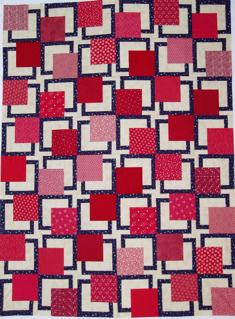 33-BQ 54x72 | This red/white/blue quilt was made for our gui… | Flickr
