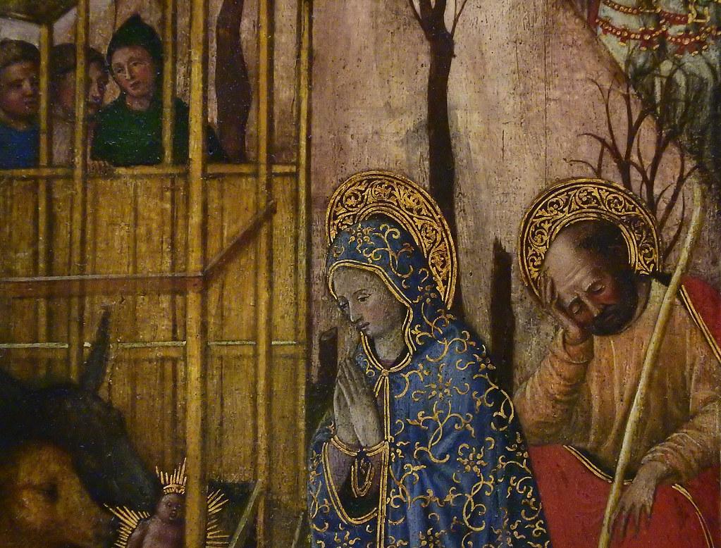 GIOVANNI FRANCESCO DA RIMINI (Attribué),1440-50 - Vie de la Vierge, La Nativité (Louvre) - Detail 48-