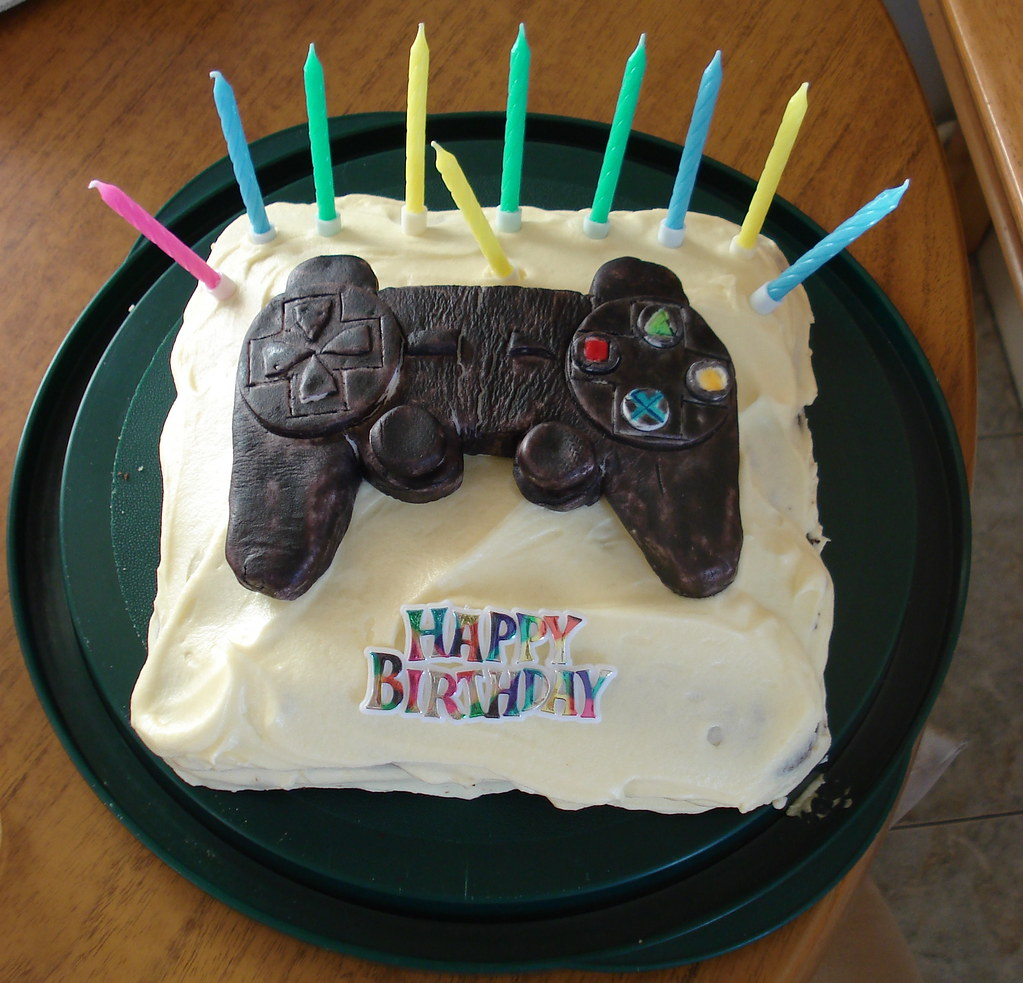 Playstation Birthday Cake For An Early Birthday Party Tha Flickr