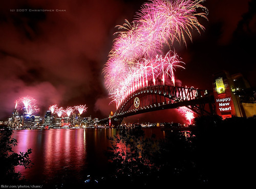 Sydney New Years Eve Fireworks 2007