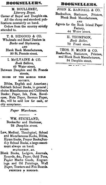 1854, Mobile AL, booksellers, directory listing | The Southe… | Flickr