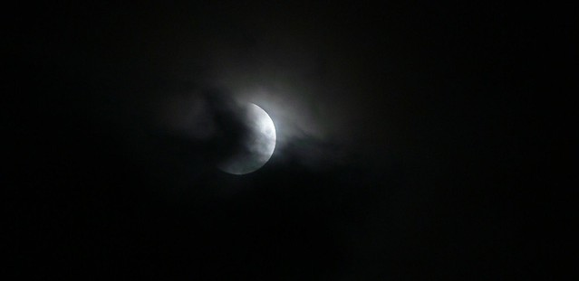 clouded eclipse of the moon