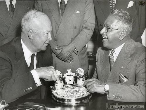 1954 President Eisenhower & Ceylon PM John Kotelawala | by bawa