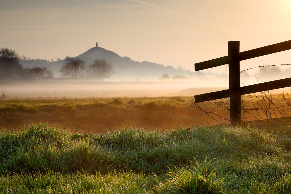 Spring Mist under Glastonbury Tor by Tony Armstrong-Sly