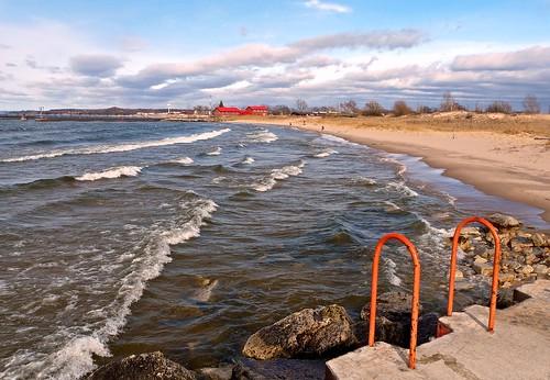 lake beach water metal pier waves michigan lakemichigan shore manistee breakwater scenicsnotjustlandscapes jimflix