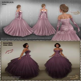 Danielle Angelica rose & Allura rose dust