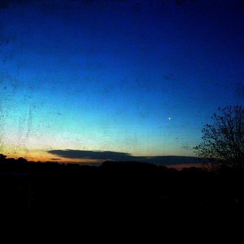blue tree yellow clouds sunrise dawn star shadows horizon naturesfinest theghostofaflea kensai76