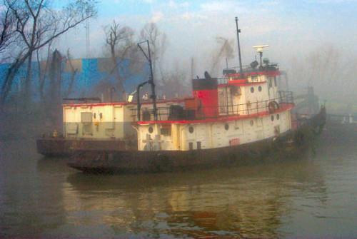fog sunrise river louisiana westbank neworleans mississippiriver np ferryterminal fireboat algiers bigmuddy wyojones chalmetteferryterninal chalmetteferry loweralgiersferry