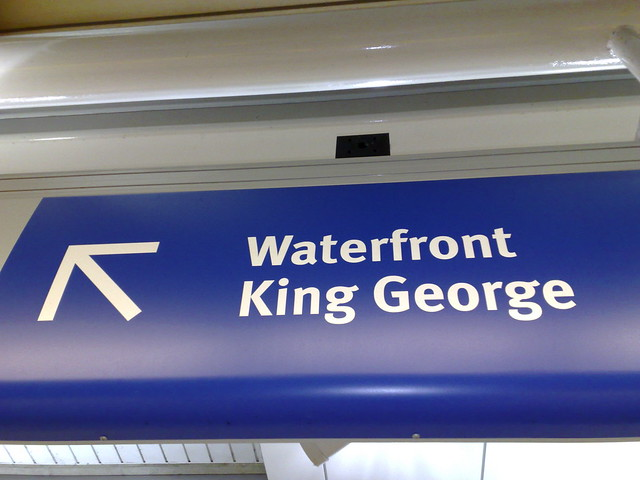 Waterfront / King George Sign at Commercial Drive Station