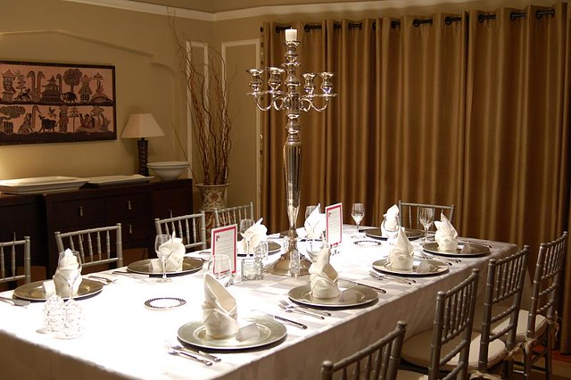 evening dinner table