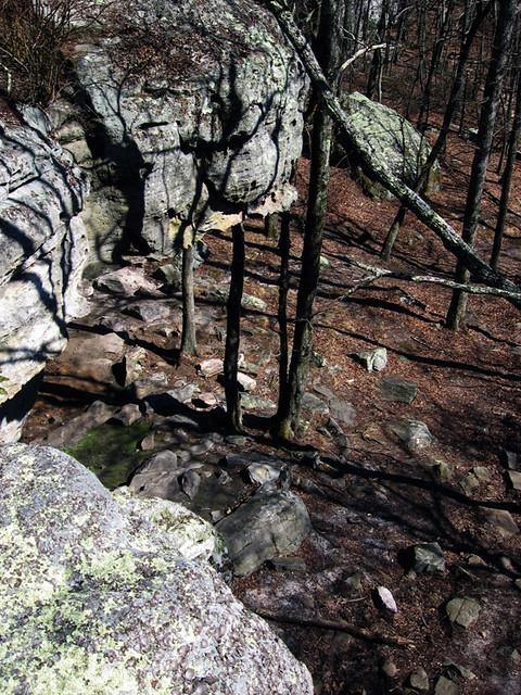 Black Mountain Rocks, Grassy Cove Segment of the Cumberland Trail, Black Mountain, Cumberland Co, TN