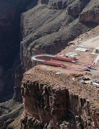 Aerial View Of The Construction Of The Grand Canyon Skywal